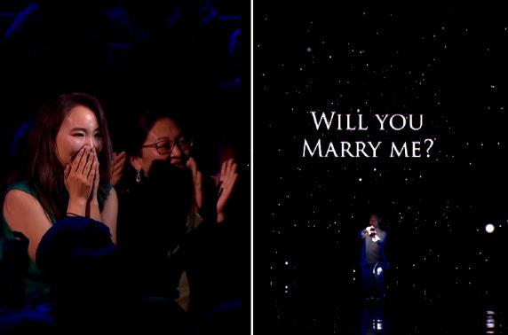 """Б.Шижирбат """"Asia's got talent""""-ийн тайзнаа гэрлэх санал тавьж олныг гайхшруулав"""