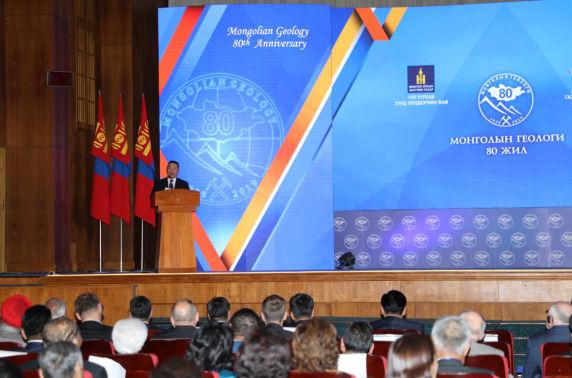 """Ерөнхийлөгч Х.Баттулга """"Монголын геологи-80"""" хуралд оролцож, үг хэллээ"""