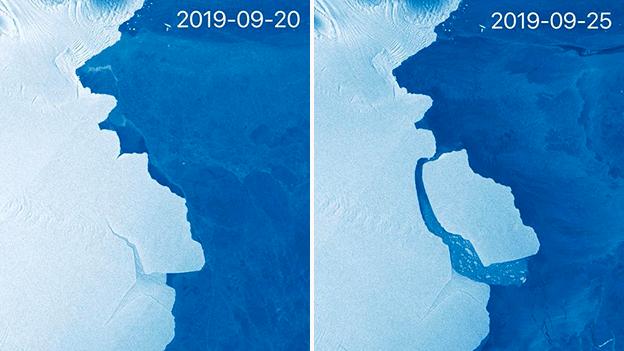 315 тэрбум тонн мөс Антарктидаас саллаа